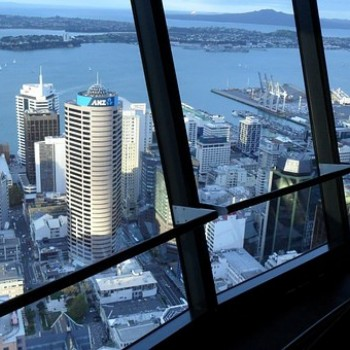 Auckland from inside Skytower