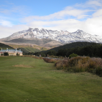 Grand Chateau and Mt Ruapehu