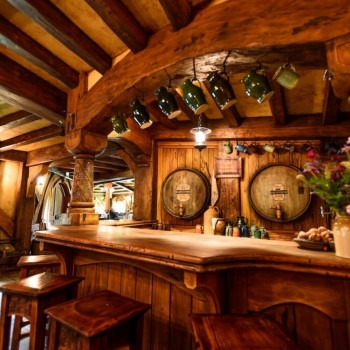 Hobbiton. Green Dragon Inn bar - a convivial place