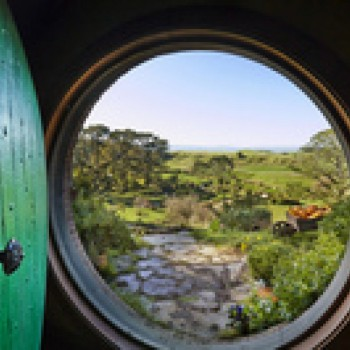 Hobbit home with a view