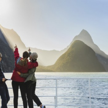 Milford Sound - Mitre Peak from cruise